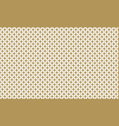 golden geometric pattern 4v3 increased seamless vector image vector image