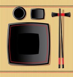 japanese tableware vector image vector image