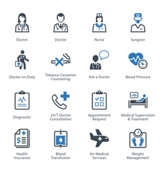 Medical and Health Care Icons Set 2 - Services vector image vector image