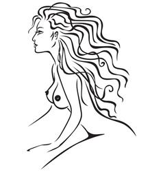 Nude lady vector
