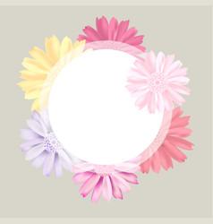 romantic vintage floral bouquet flourish card vector image vector image
