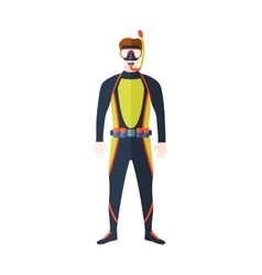 Scuba suit man vector image vector image