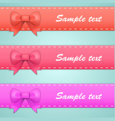 colored ribbons with bows and tails vector image vector image