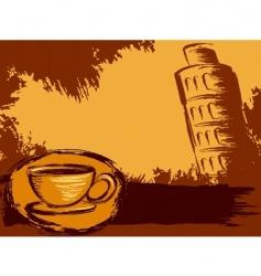 Italian coffee background vector image vector image