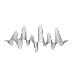 music sound wave pattern on white vector image