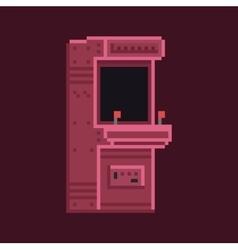 Retro pixel art 8 bit arcade cabinet machine vector image vector image