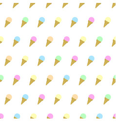 seamless pattern colored ice cream background vector image vector image