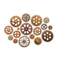 Set of gear wheels Industry vector image vector image