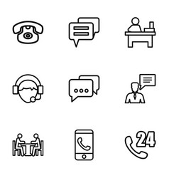 9 talk icons vector