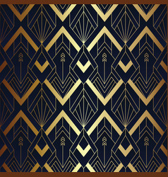 abstract art seamless blue and golden pattern 10 vector image
