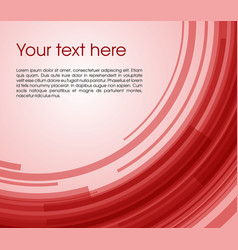 abstract circle rectangle background in red color vector image
