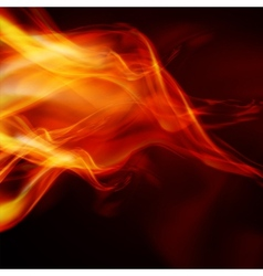 Abstract fire flames on a black background vector