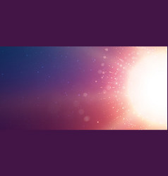 Abstract sun glow violet background points vector