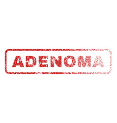 adenoma rubber stamp vector image