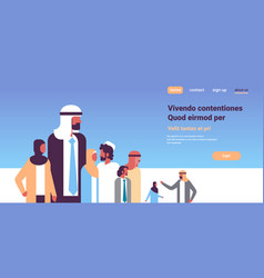 arabic business people group communication concept vector image