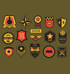 Army badges usa military patches and airborne vector