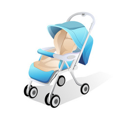 baby carriage 3d vector image