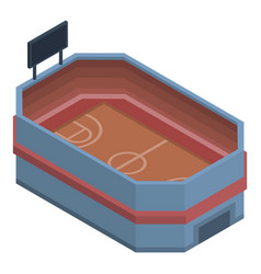 basketball stadium icon isometric style vector image