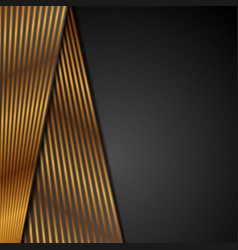 Black abstract corporate background with bronze vector