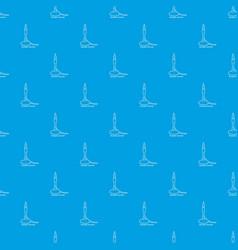Bunsen burner pattern seamless blue vector