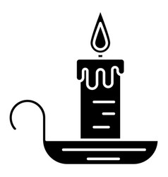 candle icon black sign on vector image