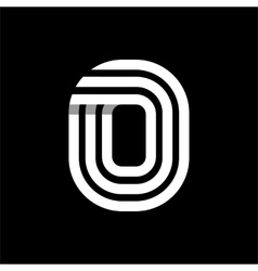Capital letter O Made of three white stripes vector image