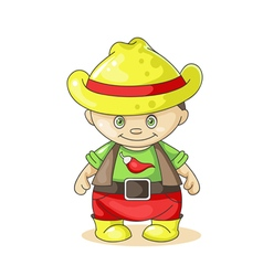 Cartoon boy cowboy vector