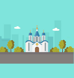 church christian orthodox or catholic vector image