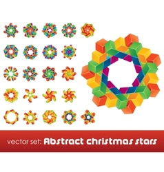 collection of impossible christmas snowflakes vector image