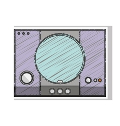 Colorful striped game console with buttons vector