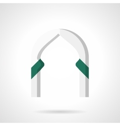 Decorative arch flat color icon vector