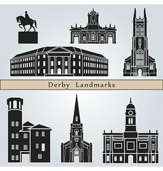 Derby landmarks and monuments vector