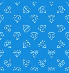 diamond blue seamless pattern modern vector image