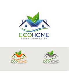 eco home logo symbol icon vector image