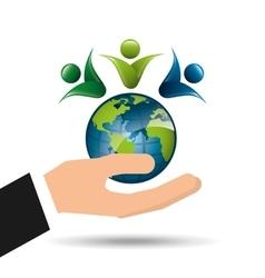 ecology enviromental eco nature vector image