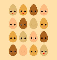 eggs diversity vector image