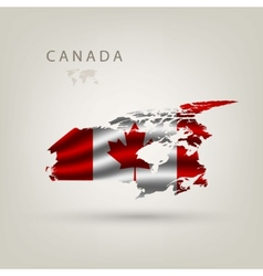 flag canada as a country vector image