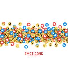 flat modern emoji conceptual background vector image
