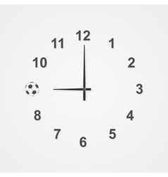 football clock 2 vector image