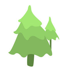 forest fir tree icon isometric style vector image