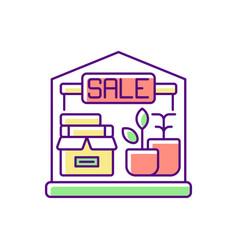 garage sale rgb color icon vector image