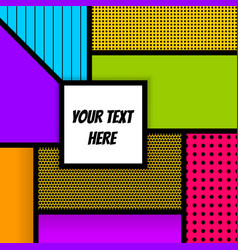 Geometric pop art advertise background vector