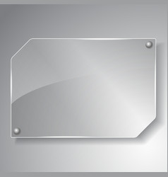 glass board vector image