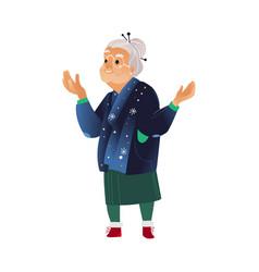 grandmother in winter vector image