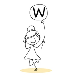 Happy alphabet hand-drawn cartoon vector image