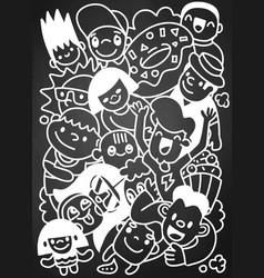 Happy kid cartoon doodle collection hand drawn vector