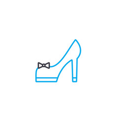 high heeled shoes thin line stroke icon vector image