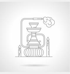 hookah lounge detailed line vector image