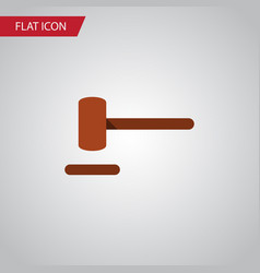 Isolated hammer flat icon defense element vector
