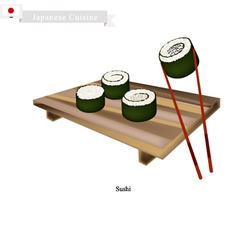 Japanese Nori Roll A Famous Dish in Japan vector